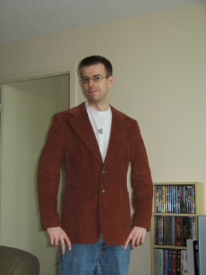 Me in my new (old) blazer