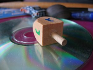 Dreidel with CD