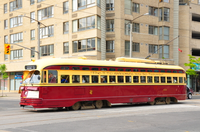 Cool old fashioned TTC streetcar