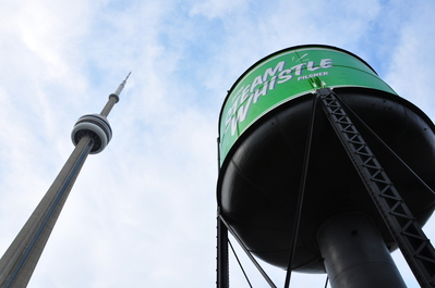 Steamwhistle water tower plus the CN tower