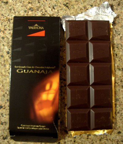 Valrhona Grand Cru Guanaja out of package