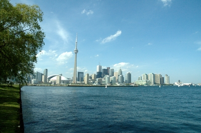 The Toronto skyline from the island, one of the best places to see it from