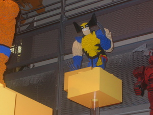 Lego sculptures at Toys R Us