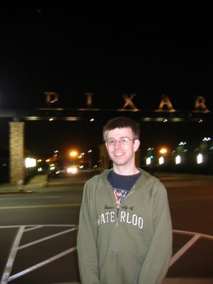 Me in front of Pixar front gates