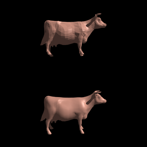 Cow with generated vertex normals